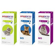 Бравекто Спот-он (Bravecto Spot-on) Капли на холку для кошек