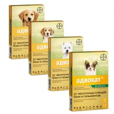 АДВОКАТ Капли на холку для собак Bayer (ADVOCATE)