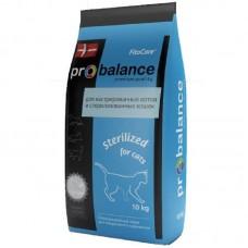 ProBalance Sterilized - корм для стерилизованных кошек и кастрированных котов