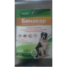 Бинакар капли от клещей / блох и насекомых для крупных собак