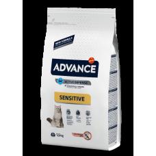 Advance Cat Adult Sensitive - корм для кошек (Лосось и рис)
