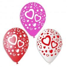 Воздушные шары - Сердечки 30см