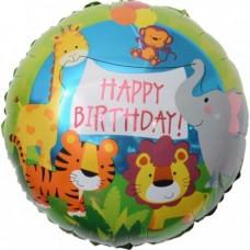 Зоопарк Happy Birthday, шар 46см