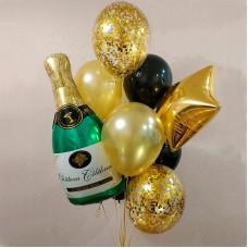 Воздушные шары с гелием - Праздничное Шампанское
