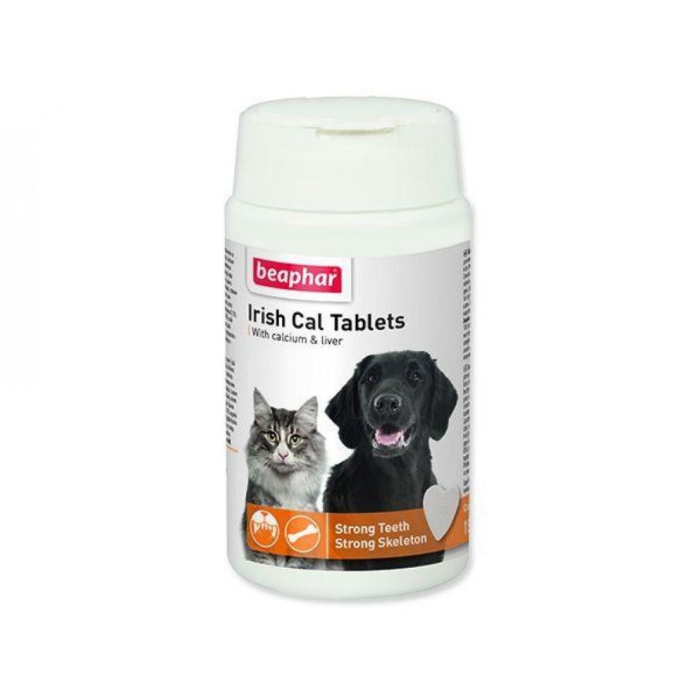 Beaphar IRISH CAL TABLETS - Комплексная минер. добавка для щенков и собак средних и крупных пород, 150 табл. (арт. DAI13276)