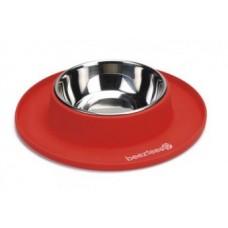 Beeztees Миски метал. на силик. подст. для собак красная 24х4,5 см (арт. ВЕТ650648)