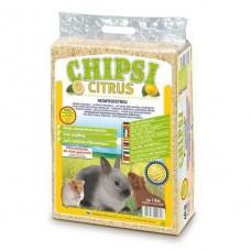CAT'S BEST Опилки для грызунов HEIMTIEREINSTREU-CHIPSI CITRUS MULTI с запахом цитруса, 15 л (1 кг) (арт. CB10)