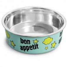 Triol Миска металлическая на резинке Bon Appetit для кошек, 0,25л (арт. ТР 30251032)
