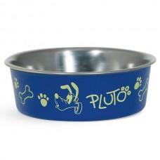 Triol Миска металлическая на резинке Pluto для кошек, несколько объемов
