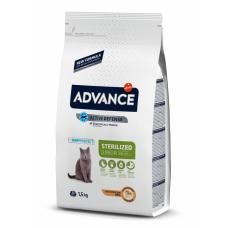 Advance Junior Sterilized - корм сухой для стерилизованных кошек до 3 лет, курица и рис