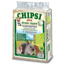 CAT'S BEST Опилки для грызунов CHIPSI-PLUS-GREEN-APPLE с запахом яблока, 15 л (1 кг) (арт. CB11)