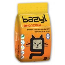 BAZYL Ekonomik бентонитовый наполнитель для кошачьего туалета Эконом комкующийся