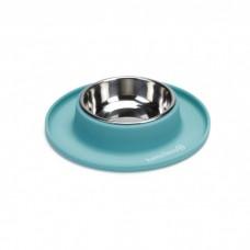 Beeztees Миска металлическая на силиконовой подставке, для собак 19х3,5см (арт. ВЕТ650647)