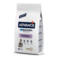 Advance Hairball - корм сухой для вывода шерсти у кошек, индейка и рис