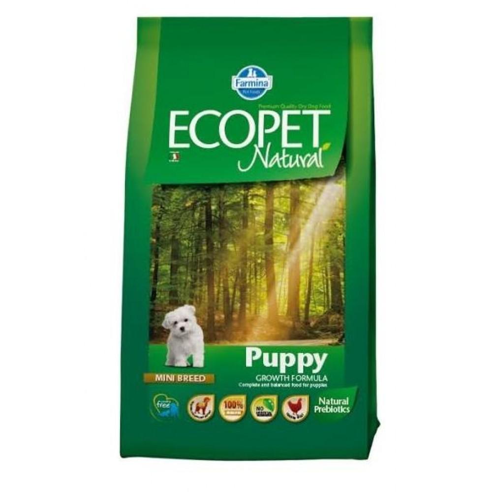 Ecopet Natural Puppy MINI - корм для щенков мелких пород, с курицей
