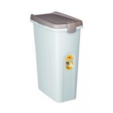 Stefanplast контейнер для корма, белый со светло-коричневой крышкой, 25л., 10 кг.