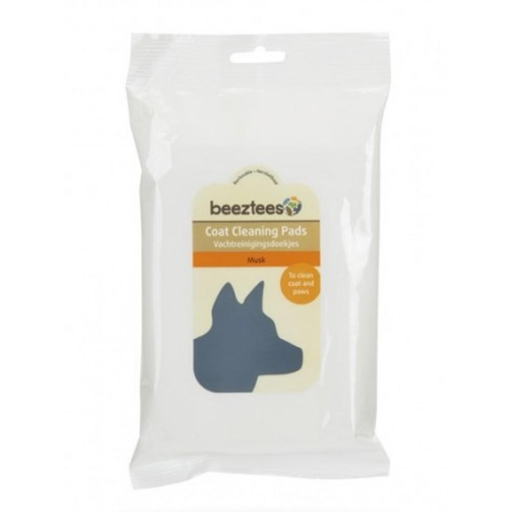 Beeztees Musk влажные салфетки для щенков и собак с мускусным ароматом, 40 шт
