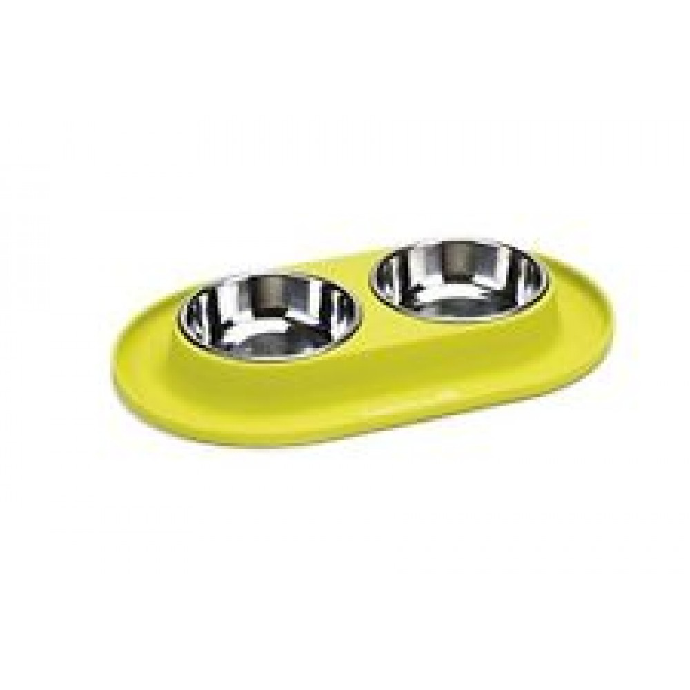 Beeztees Миски для собак металлические на силиконовой подставке 2 шт. 31х19 см (арт. ВЕТ650645)