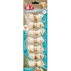 8 in 1 DENTAL DELIGHTS XS - косточки с куриным мясом для мелких собак с минералами 7,5 см, 7 шт (арт. 102595-В)