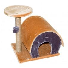 Redplastic Домик-когтеточка с полукруглой крышей 50*41*51см, разные материалы