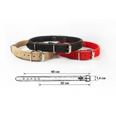 Redplastic Ошейник 14 мм 2 слоя обхват 34-42см «Замша» для кошек