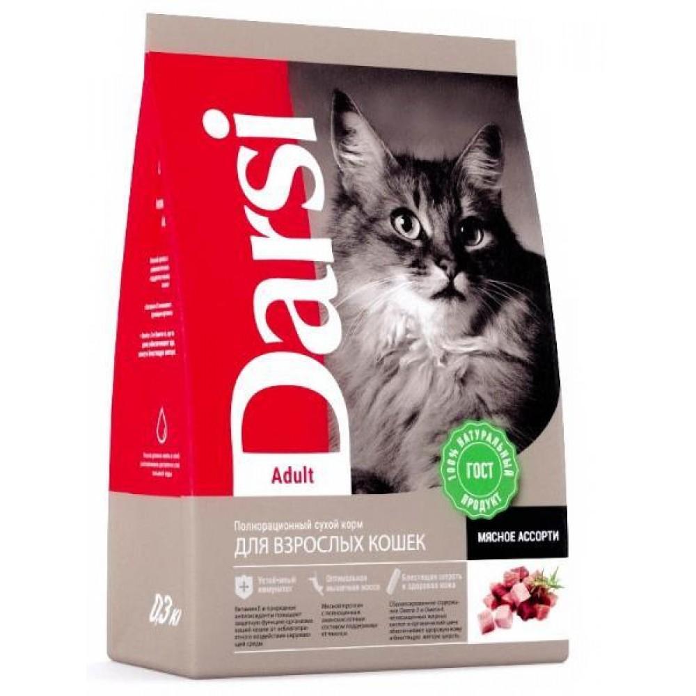 Darsi Adult - сухой корм для взрослых кошек, мясное ассорти