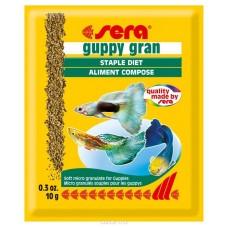 SERA Guppy Gran - корм для мелких рыб и гуппи, 10 г (арт. TYZ 712)