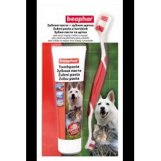 Beaphar TOOTH BRUSH+PASTE combipack - Паста для чистки зубов у кошек 100 г + зубная щетка (арт. DAI15407)