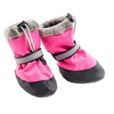 Ботинки для собак утеплённые, розового цвета, несколько размеров (2 ботинка) Дарелл