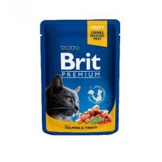 Brit Пауч (пресервы) для кошек Salmon & Trout Лосось и форель
