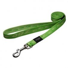 Rogz поводок для собак нейлоновый Big Foot Lime , 4 см.*50 см. (арт. RHL29G)