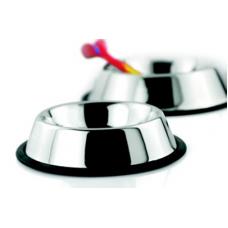Миска металлическая For Friends со съемным силиконовым основанием для кошек, несколько размеров