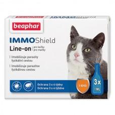 Beaphar IMMO SHIELD LINE-ON CAT - Капли от паразитов для котов Иммо-шелд с 12-недельного возраста (арт. DAI13581)