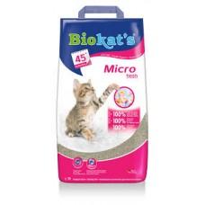 Biokat's Micro Fresh - комкующийся наполнитель из бентонита для кошек с ароматом цветов и цитруса