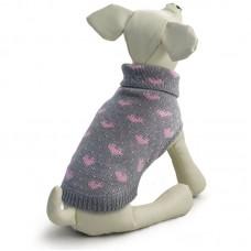 Свитер для собаки - Triol Сердечки серый, разных размеров