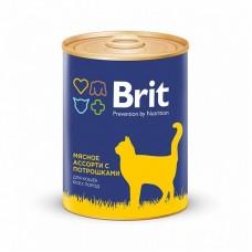 BRIT BEEF AND OFFAL MEDLEY - консервы для кошек Мясное ассорти с потрошками - 340 г (арт. 9433)