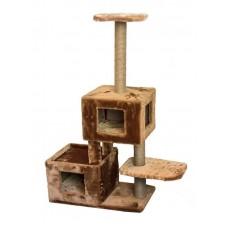Redplastic Домик-когтеточка Кубы, 3-х уров., 2 домика, джут (ТМ ЧИП) 35*83*117 см (арт. RP8373)