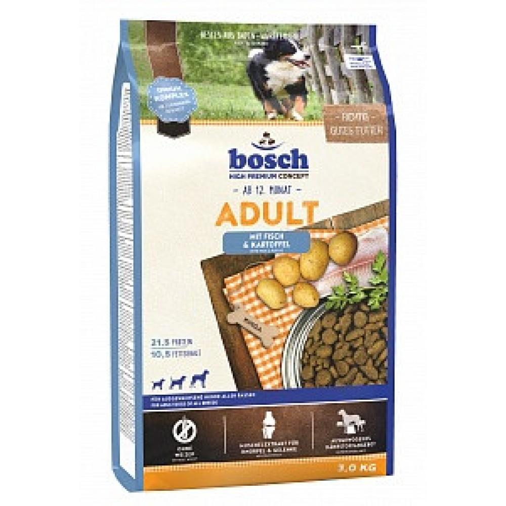 Bosch Adult Fish & Potato - корм для взрослых собак со средним уровнем активности (лосось с картофелем)