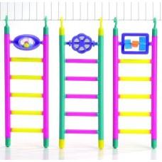 Beeztees Лесенка пластмассовая с игрушкой (6 шагов, длина 21 см) (арт. ВЕТ10244)