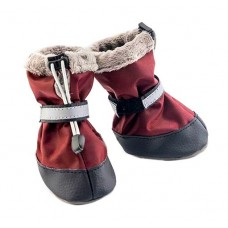 Боты для собак утеплённые, бордового цвета, несколько размеров (2 ботинка) Дарелл