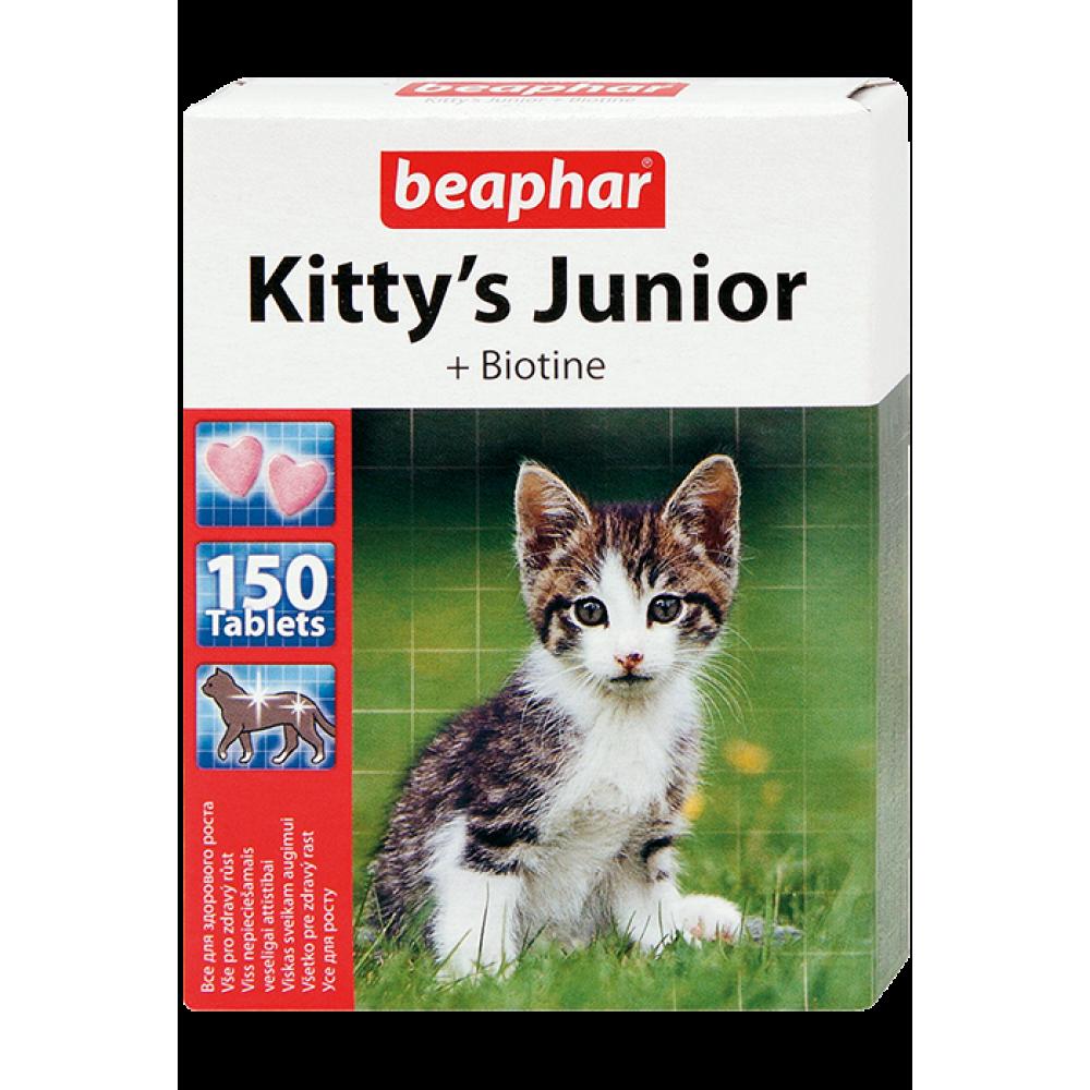 Beaphar Kitty's Junior - Кормовая добавка для развития костной системы котят от 6 недель (арт. DAI12508, DAI12596)