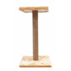 Four Pets Когтеточка-столбик джутовая с полкой, несколько размеров