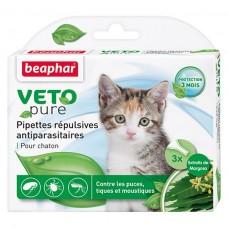 Beaphar VETO pure Капли био от блох, клещей и комаров для котят (арт. DAI15615)