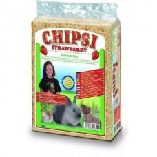 CAT'S BEST Опилки для грызунов HEIMTIEREINSTREU-CHIPSI STRAWBERRY с запахом клубники, 15 л (1 кг) (арт. CB12)