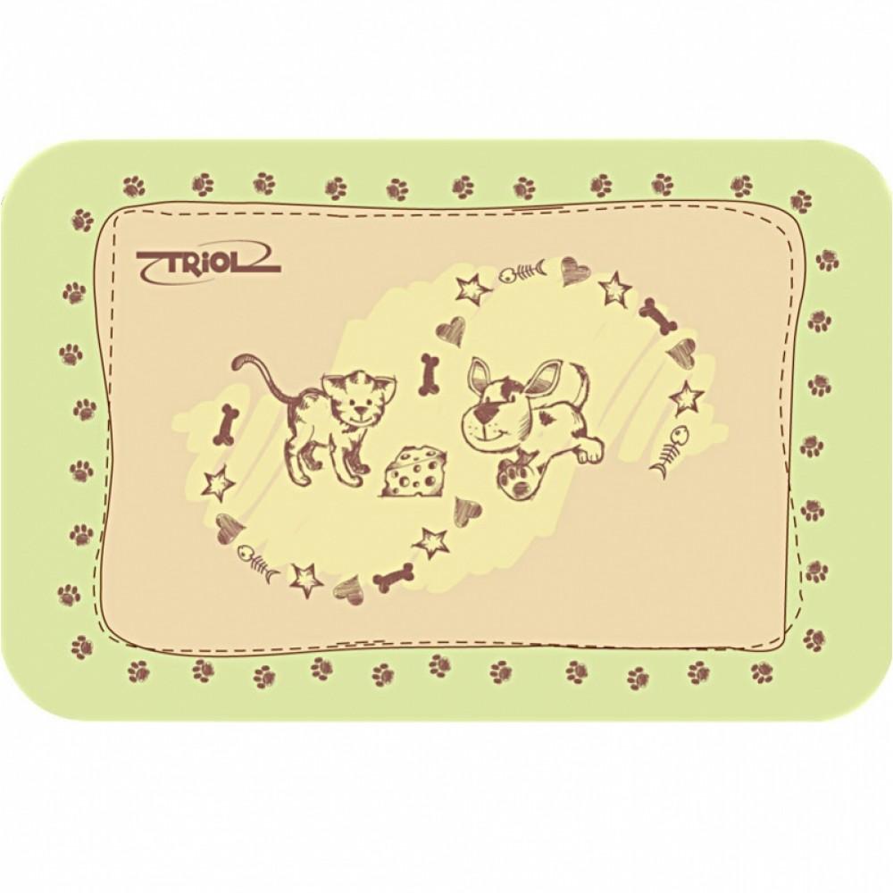 Коврик под миску Triol Кошечка и собачка, 43*28 см, для кошек (арт. ТР 30211004)