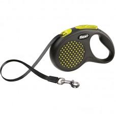 Flexi Рулетка-поводок DESIGN, ремень, (М) до 25 кг., 5 м., разные цвета