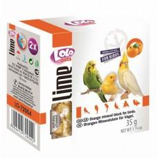 LOLO Pets Минеральный камень с апельcином для всех птиц (арт. LO 72054)