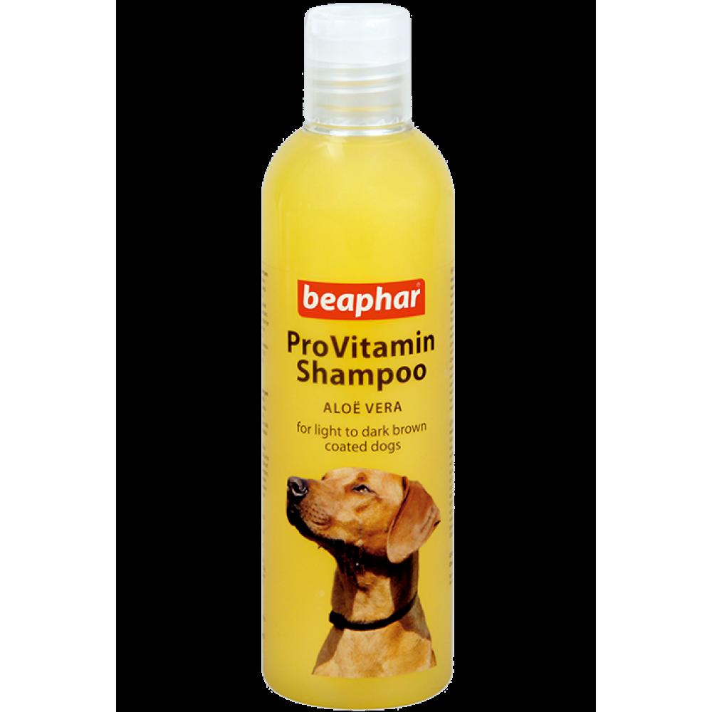 Beaphar Pro Vitamin Shampoo Yellow/Gold - Провитаминный шампунь с алоэ вера для собак рыжего окраса, 250 мл (арт. DAI18267)