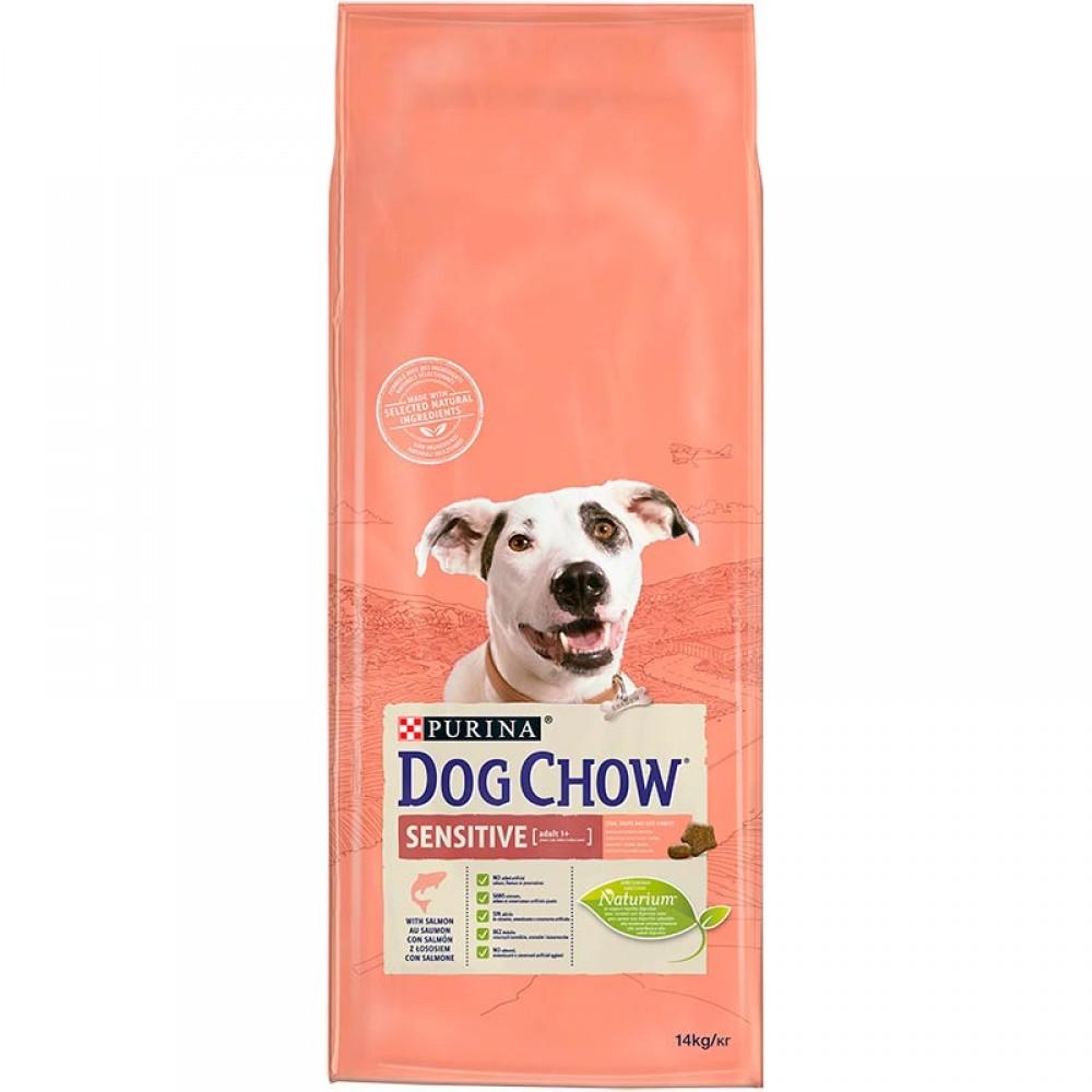 Dog Chow Sensitive - корм для чувствительных собак с лососем