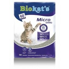 Biokat's Micro Classic - наполнитель комкующийся с мелкими гранулами для котят и короткошерстных кошек